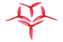 HQ Durable Prop 5048 3 Blatt V1S hell rot  2CW+2CCW Polycarbonat Propeller