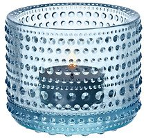 Iittala Teelichthalter Kastehelmi 6,4cm Glas hellblau