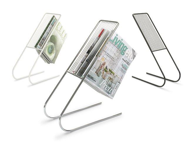 j me original design zeitschriftenst nder float silber kaufen. Black Bedroom Furniture Sets. Home Design Ideas
