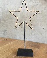 Lights4Christmas Leuchtstern stehend 30 LED 40cm Metall schwarz