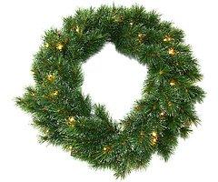 Edelman Weihnachtskranz 30 LED 60cm grün innen