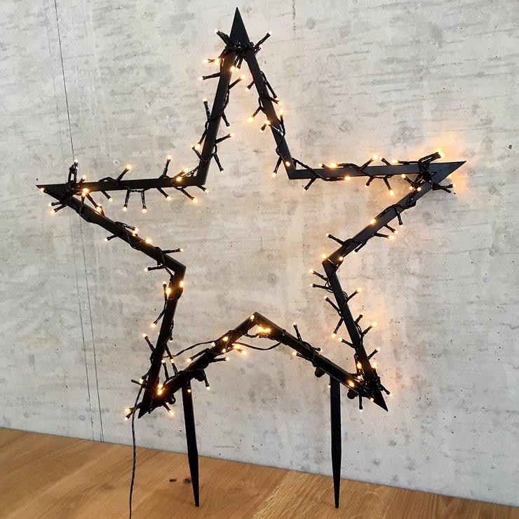 Luca Lighting Leuchtstern Outdoor 225 LED warmweiß 90x102cm Gartenstecker - Pic 1