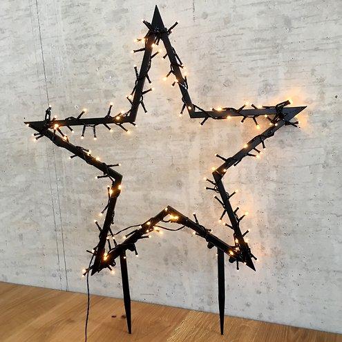 Luca Lighting Leuchtstern Outdoor 225 LED warmweiß 90x102cm Gartenstecker