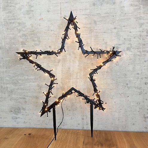 Luca Lighting Leuchtstern Outdoor 150 LED warmweiß 60x73cm Gartenstecker