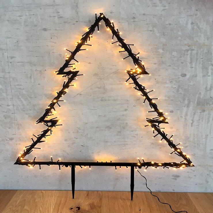 Luca Lighting Leuchttanne Outdoor 175 LED warmweiß 83x75cm Gartenstecker - Pic 1
