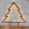 Luca Lighting Leuchttanne Outdoor 175 LED warmweiß 83x75cm Gartenstecker - Thumbnail 1