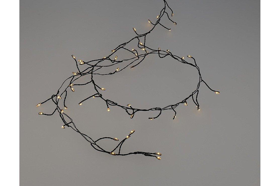 Lights4christmas led cluster lichterkette batterie 60 led - Lichterkette ohne kabel ...