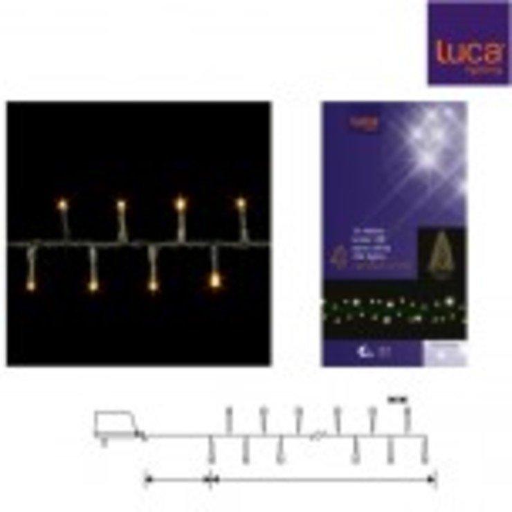 Luca Lightning Lichterkette Snake Light 700 LED warmweiß außen 14m grün - Pic 1