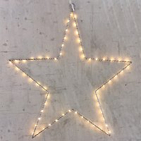 Lights4Christmas Leuchtstern 40 LED 30cm Metall silber innen