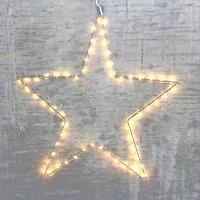 Lights4Christmas Leuchtstern 60 LED 50cm Metall silber außen
