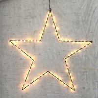 Lights4Christmas Leuchtstern 80 LED 70cm Metall schwarz außen