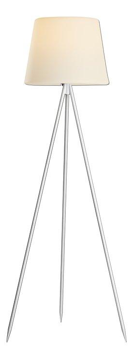 Kaemingk Stehlampe Solar 148 cm 8 LED warmweiß Metall weiß - Pic 1