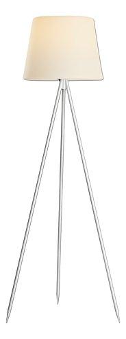Kaemingk Stehlampe Solar 148 cm 8 LED warmweiß Metall weiß