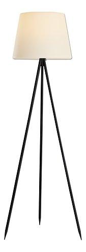 Kaemingk Stehlampe Solar 148 cm 8 LED warmweiß Metall schwarz