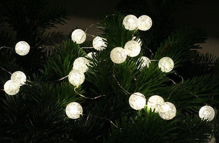 Lights4christmas led lichterkette batterie silberdraht 20 - Silberdraht kaufen ...
