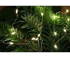 Lights4Christmas LED Lichterkette Batterie Silberdraht 20 LED 1m