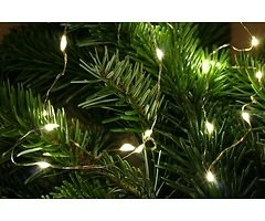 Lights4Christmas LED Lichterkette Batterie Silberdraht 40 LED 2m