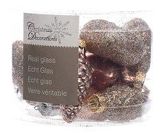 Kaemingk Weihnachtskugeln Figuren-Mix 4,5cm Glas Remember when 12 Stück rosa