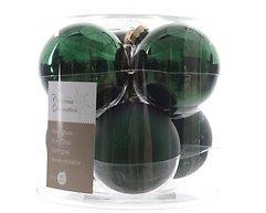 Kaemingk Weihnachtskugel 8cm Glas glanz/matt 6 Stück grün
