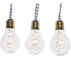 Kaemingk LED Lichterkette 2,7 m Glasbirnen 30 LED Glas transparent