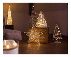 Kaemingk Leuchtbaum 20 LED 36cm batteriebetrieben Timer weiß