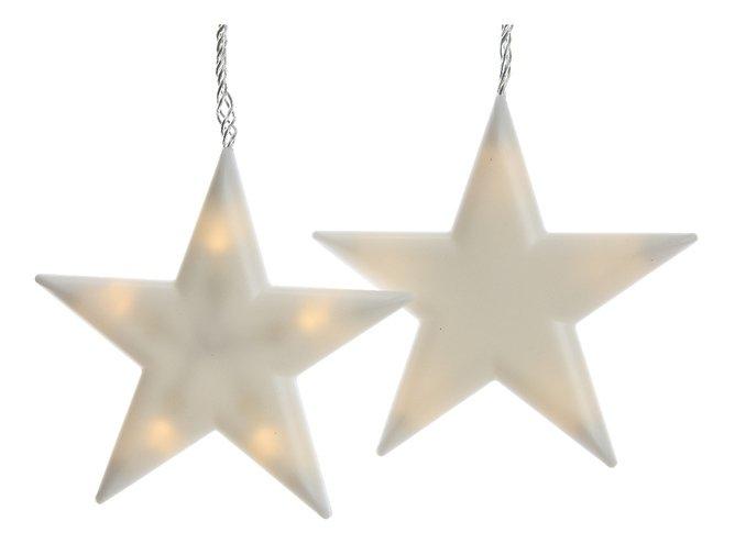 Kaemingk Lichterkette 6 Sterne frosted 40 LED innen 1,5m transparent