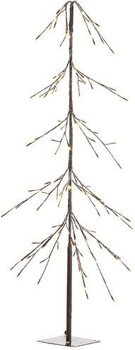 Kaemingk LED Baum Kiefer schneebedeckt 176 LED innen 165 cm braun