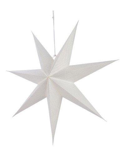 Kaemingk Leuchtstern 60 cm inkl. Leuchte Papier weiß