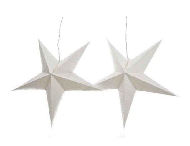 Kaemingk Leuchtsterne 60 cm inkl. Leuchten Papier weiß