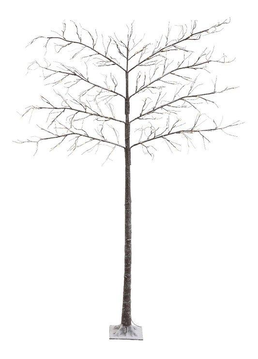 Kaemingk Leuchtbaum Spalierbaum Schnee 208 LED außen 200cm braun - Pic 1
