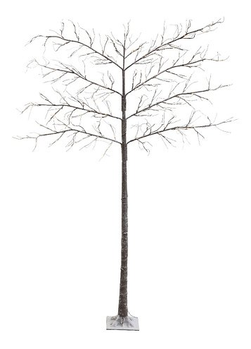 Kaemingk Leuchtbaum Spalierbaum Schnee 208 LED außen 200cm braun