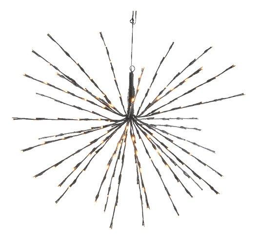 Kaemingk Leuchtstern Polarstern 72 LED Blinkfunktion 45cm außen schwarz