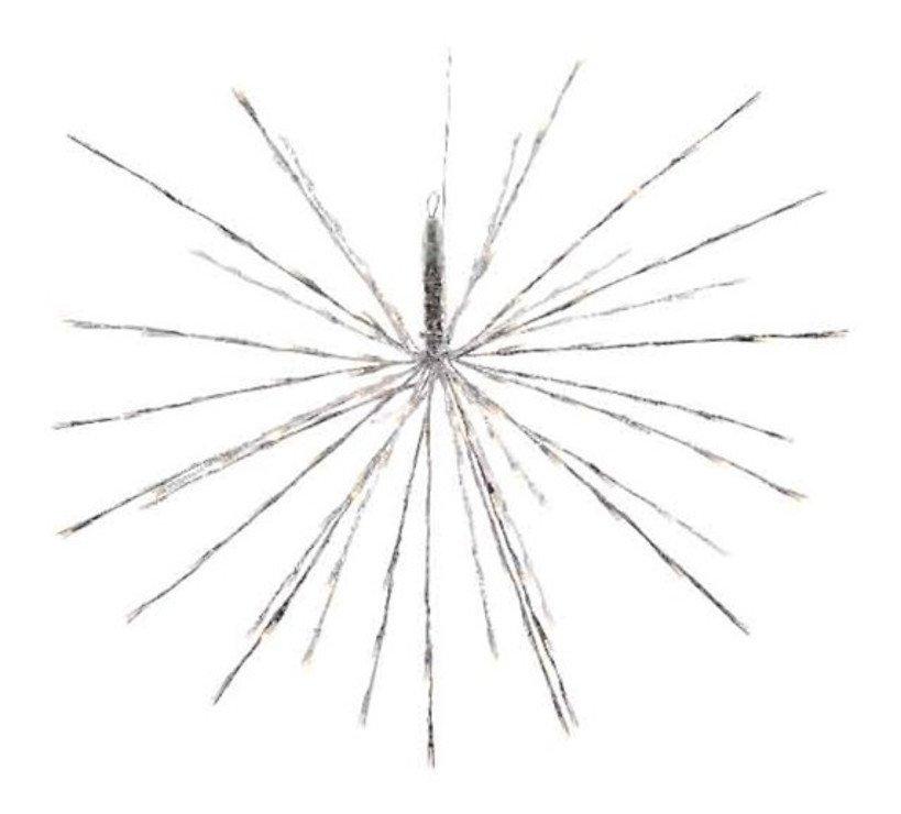 Kaemingk Leuchtstern Polarstern 72 LED Blinkfunktion 45cm außen silber - Pic 1