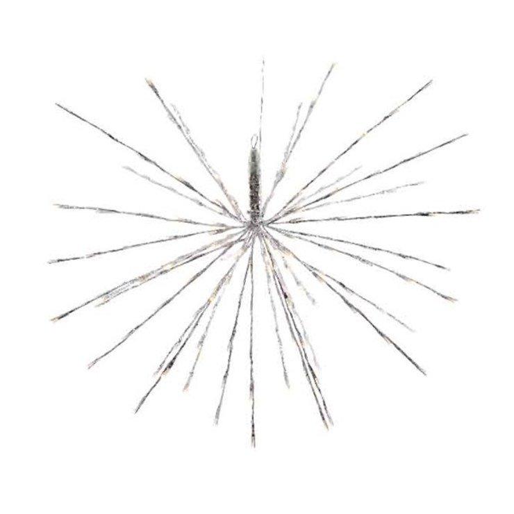 Kaemingk Leuchtstern Polarstern 280 LED Blinkfunktion 100cm außen silber - Pic 1