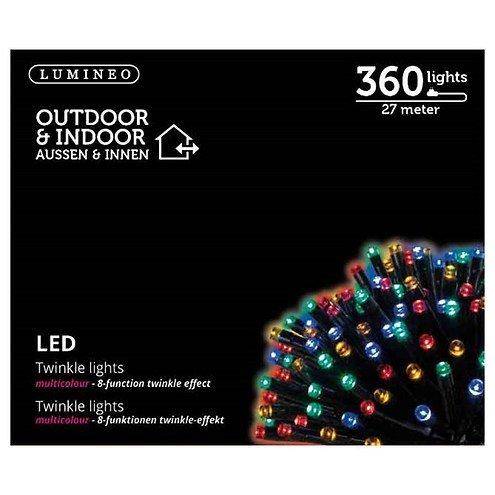 Kaemingk Lichterkette 180 LED bunt 13,5 m außen schwarz