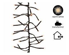 Kaemingk Lichterkette Cluster 2040 LED warm weiß außen 17 m schwarz