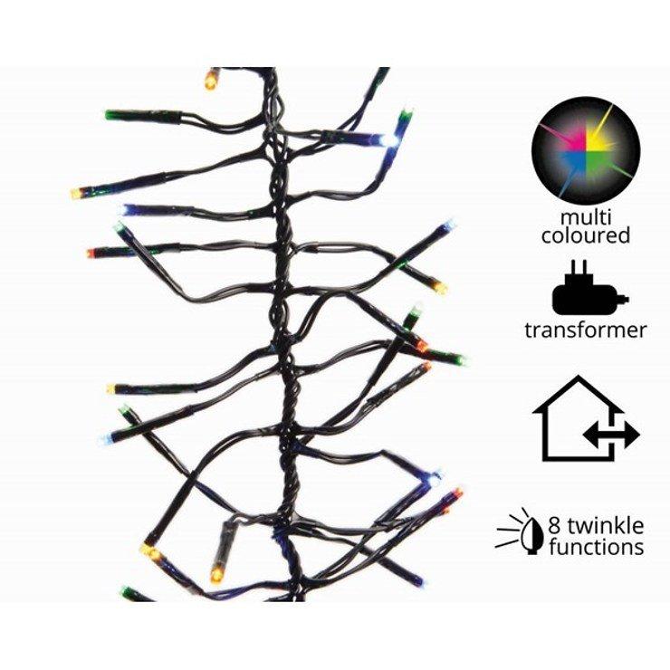 Kaemingk Cluster Lichterkette 1512 LED bunt 13,5 m außen schwarz - Pic 1
