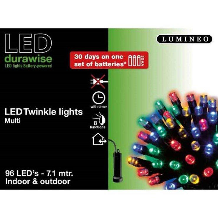 Kaemingk Lichterkette 96 LED bunt 7,1m außen schwarz - Pic 2