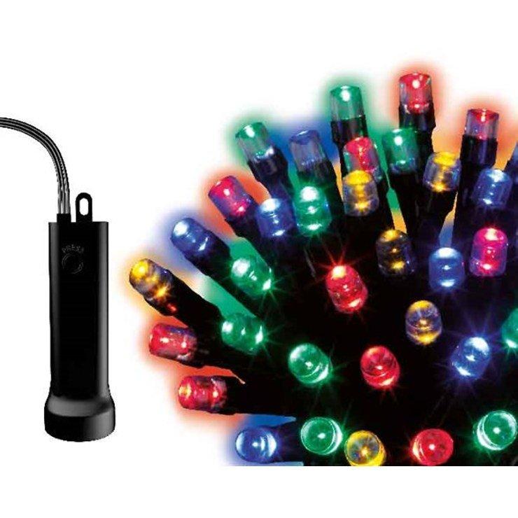 Kaemingk Lichterkette 96 LED bunt 7,1m außen schwarz - Pic 1