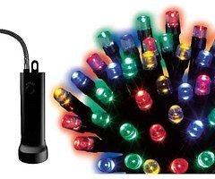 Kaemingk Lichterkette 96 LED bunt batteriebetrieben 7,1 m außen schwarz
