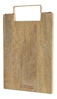 Kaemingk Schneidebrett Holz Griff kupferfarben 36 x 22cm