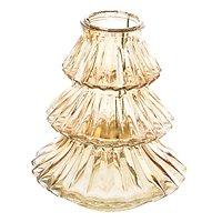 Kaemingk Windlicht Glas Tanne braun 16x18cm