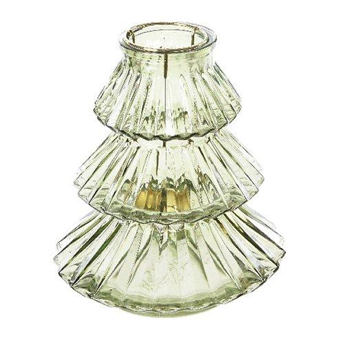 Kaemingk Windlicht Glas Tanne grün 16x18cm