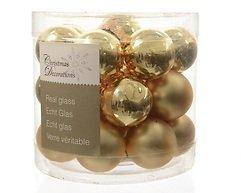 Kaemingk Weihnachtskugeln Mini 2,5cm Glas glanz/matt 24 Stück gold