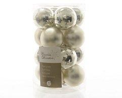 Kaemingk Weihnachtskugeln Mini 3,5cm Glas glanz/matt 16 Stück silber