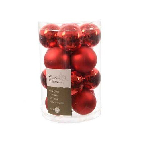 kaemingk weihnachtskugeln mini 3 5cm glas glanz matt 16 st ck rot kaufen. Black Bedroom Furniture Sets. Home Design Ideas