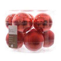 Kaemingk Weihnachtskugel 6cm Glas glanz/matt 10 Stück rot