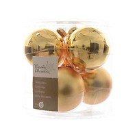 Kaemingk Weihnachtskugel 8cm Glas glanz/matt 6 Stück gold