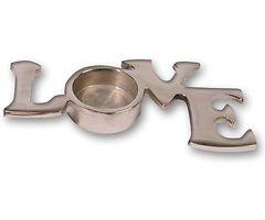 Kaemingk Teelichthalter LOVE Aluminium 15 x 8 cm