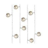 Kaemingk Kugel Lichterkette 20 LED Metall Silber Innen 4m